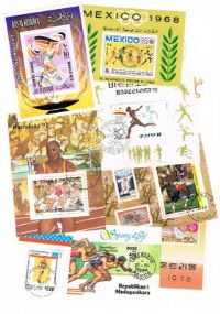 10 different athletics and running miniature sheets packet